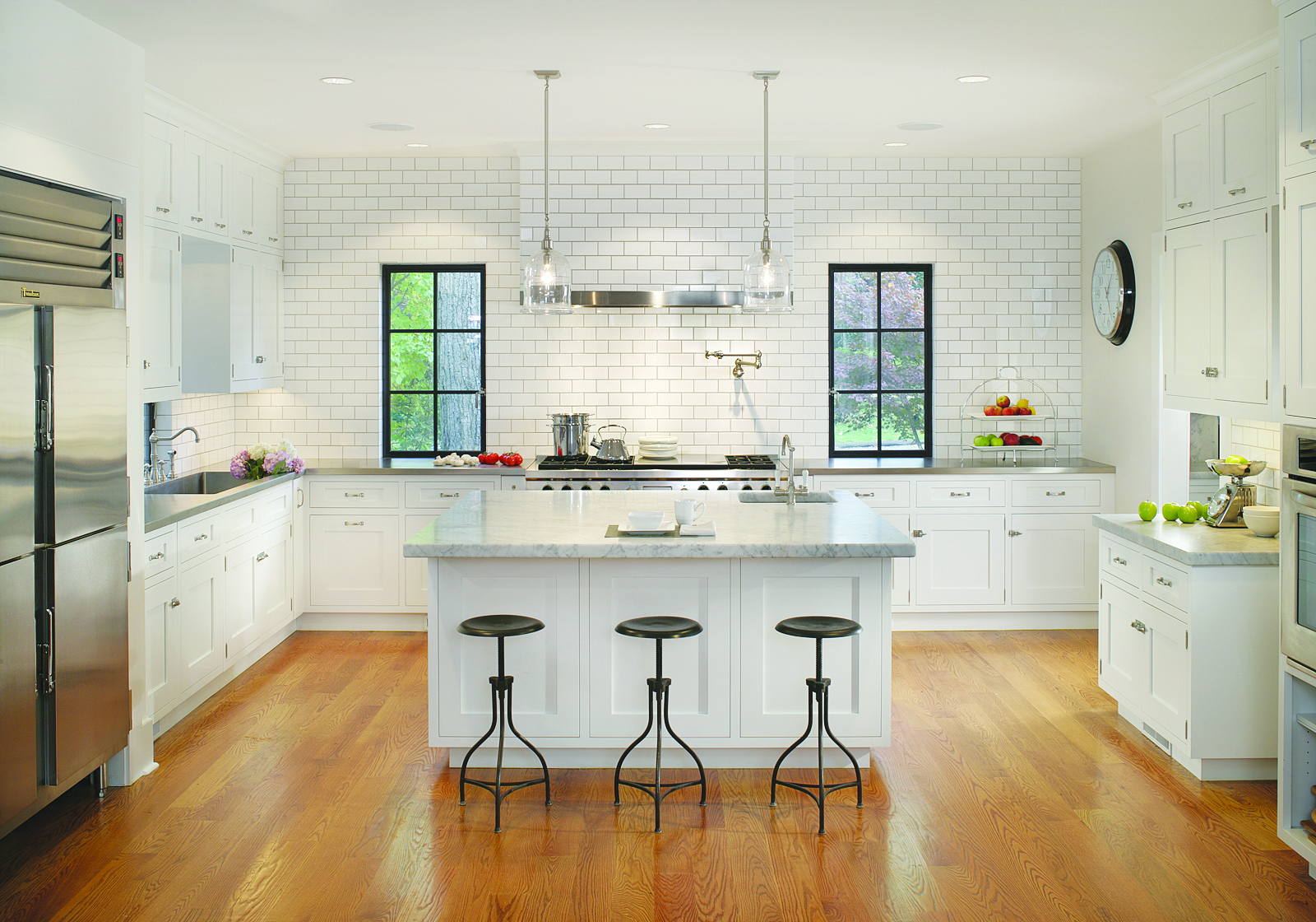 White beadboard kitchen